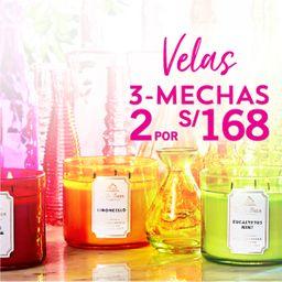 2 x S/. 168 Vela 3 Mechas