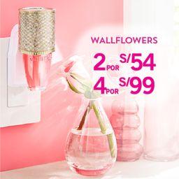 4 x S/.99 Fragancia Wallflowers