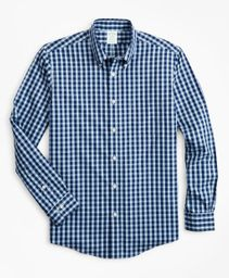 Camisa Hombre Stretch Milano Slim-Fit, Non-Iron Gingham