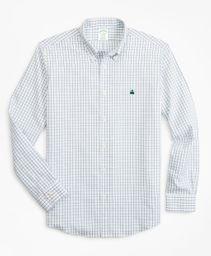 Camisa Hombre Stretch Milano Slim-Fit, Non-Iron Windowpane