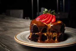 Torta de Chocolate con Bola de Helado