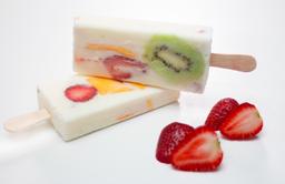 Paleta de Crema de Leche y Frutas