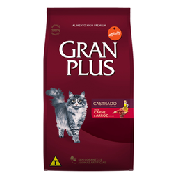 Gran Plus Alimento Para Gato Adulto Castrado Carne & Arroz