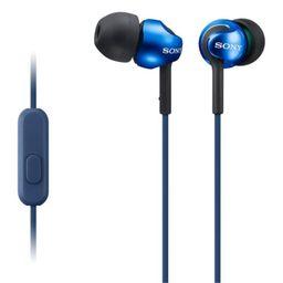 Audífono Sony Mdr-Ex110Ap/Li Azul C/Mic .