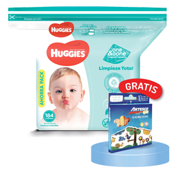 Toallitas húmedas huggies one & done 184 und + regalo