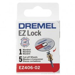 Kit Discos De Corte 5 Unid Ez-Lock Ra + Mandril Dremel Ez406
