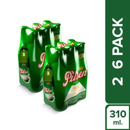 Pilsen Six Pack Botella 310 Ml 2X