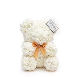 Teddy Roses 20Cm Blanco