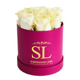 Mini Box Full Roses Blanco