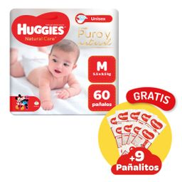 Huggies Pañal Natural Care Unisex M