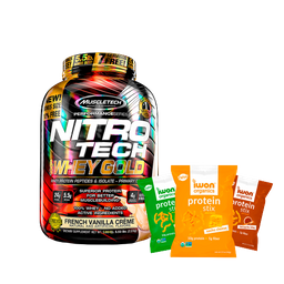 Nitrotech Combo Proteína Whey Gold 5.5 + Snacks Protein Stix