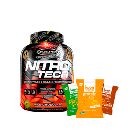 Nitrotech Combo Proteína Mps 4 Lb + Snacks Iwon Protein Stix