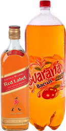 Whisky Johnnie Walker Red Label 750ml + Guarana 2 LT