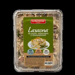 Lasagna Jamon Esparragos Y Champinones X Kg