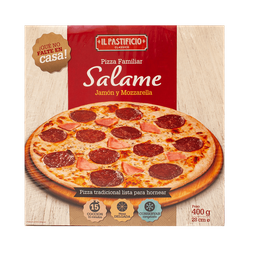 Pizza De Jamon Y Salame X 30 Cm