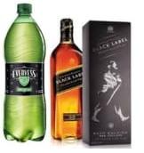 Johnnie Walker Black Label 750Ml. + Evervess 1.5Lt.
