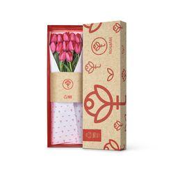 Caja Con 12 Tulipanes Rojos