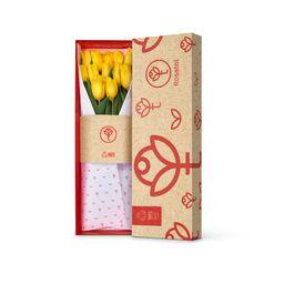 Caja Con 12 Tulipanes Amarillos