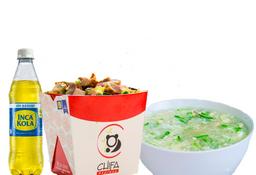 Arroz Chaufa de Pollo + Sopa Wantan de Pollo + 1 Gaseosa