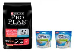 ProPlan Delicate Dog Small Breed 7.5kg +02 Dentlife Small Breeds