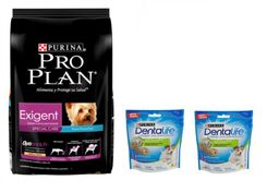ProPlan Exigent Dog Small Breed 7.5kg + 02 Dentlife Small Breeds