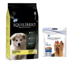 Equilibrio Puppies All Breeds2kg+Equilibrio snack salud oral 80g