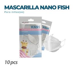 10 Mascarillas KN95 Fish Blanca para niños