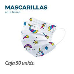 50 Mascarillas Quirurgicas para niños
