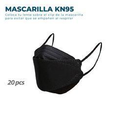 20 Mascarillas KN95 Fish Nano Negras