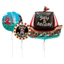 """01 Bouquet De Globos """"Have A Jolly Birthday"""" - Inflado Con Helio"""