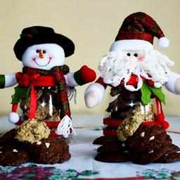 Muñeco navideño con galletas chocochips