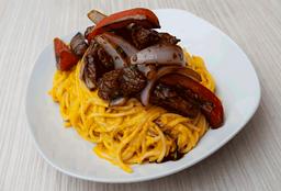 Spaghettis a la Huancaína