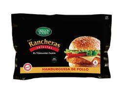 HAMBURGUESA DE POLLO SUPER RANCHERAS 6 UNIDADES X 100 GRAMOS