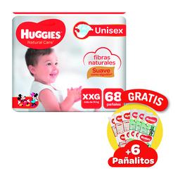 Pañal Huggies Natural Care XXG 68 Und