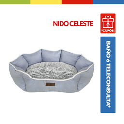 Cama Semi Ovalada Nido Celeste (Qs134201)