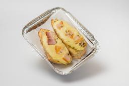 Pan al Ajo con Queso Mozzarella, Jamón y Tocino