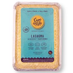 Lasagna Alcachofa y Champiñones