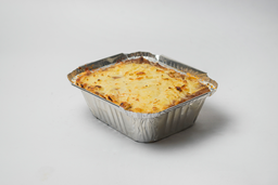 Lasagna de Carne con Champiñones, queso Cheddar y Tocino
