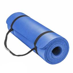 Fit4ndFit Tapete de Yoga 15 mm Azul