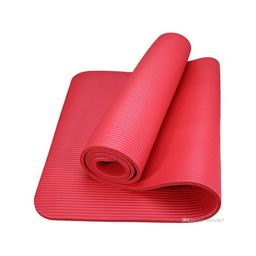 Fit4ndFit Tapete de Yoga 10 mm Rojo