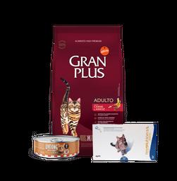 Maskota Pack Gran Plus Adulto Carne 10Kg + Revolution + Livelong