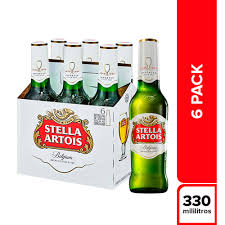 Cerveza Stella Artois 330ml x 06 unidades