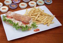Sándwich de Pollo Desmenuzado