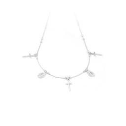 Collar Cruz Milagrosa Plata 925-CAS-2258