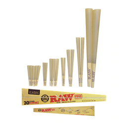 Raw Classic Pre-Roll Cone 20 Stage Rawket Launcher