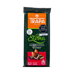 Trapa Chocolate Dark al 80% Con Stevia