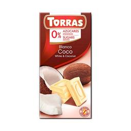 Torras Chocolate Blanco Con Coco 0% Azúcares Añadidos