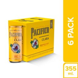 Pacifico Cerveza Six Pack Lata 355Ml