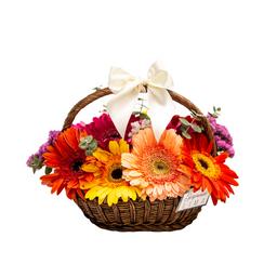 Mini Gerberas Basket