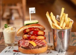 2 hamburguesas ahumadas